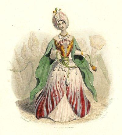 グランヴィルによる花の妖精の版画