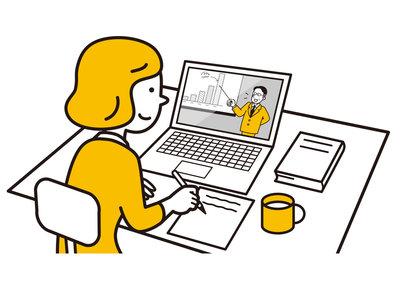オンライン授業を受ける学生