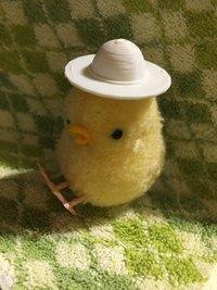 スリーディープリンターで作った小さい麦わら帽子